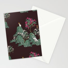 Night Tropical Garden Stationery Cards