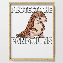 Pangolin Pangolin Scaly Animal Rescue Serving Tray