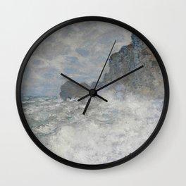 Rough weather - Claude Monet Wall Clock