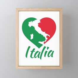 Italia Heart - I Love Italy Framed Mini Art Print