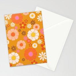 Groovy Mod 60's Flower Power Stationery Cards