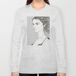 fashion portrait florine Long Sleeve T-shirt