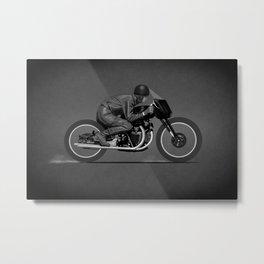 Black Lightning Works Racing Metal Print