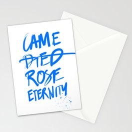 #JESUS2019 - Came Died Rose Eternity (blue) Stationery Cards