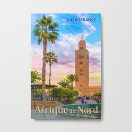Afrique du Nord Travel Poster Metal Print