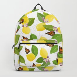 Meyer Lemons and Monarch Butterflies Backpack