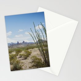 Mule Ears in Big Bend National Park, Texas Stationery Cards