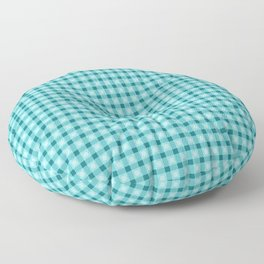 Blue pattern. Lines. Geometric figures. Floor Pillow