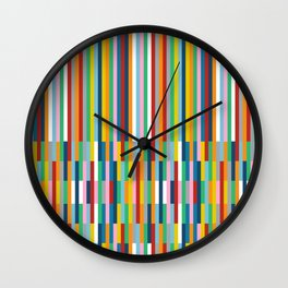 Brick Columns Wall Clock