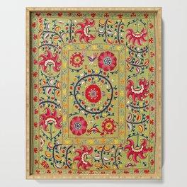 Lakai Suzani Uzbekistan Floral Embroidery Print Serving Tray