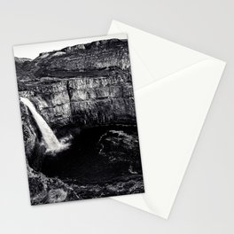 Hidden Waterfall Black and White Stationery Cards