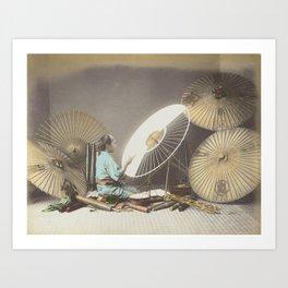 Umbrella Maker Art Print