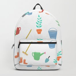 simple Garden Theme digital painting Backpack