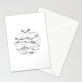 Segmented Flow Circle Stationery Cards