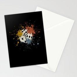 Dice vintage Stationery Cards