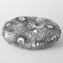Gumnut & Eucalyptus flowering Black & White Love Floor Pillow