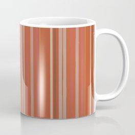 Rusty Coral Ombré Stripes Coffee Mug
