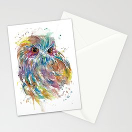 Colourful Morepork Stationery Cards