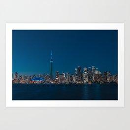 Toronto Blue Art Print