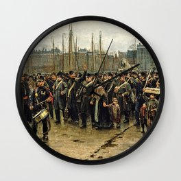 Isaac Lazarus Israels - Transport Of Colonial Soldiers - Digital Remastered Edition Wall Clock
