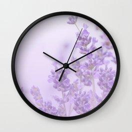 Lovely Lavenders Pastel Purple Background #decor #society6 #buyart Wall Clock
