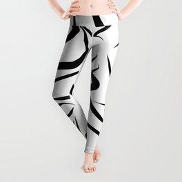 Body Love - Black & White Line-art Pattern Leggings