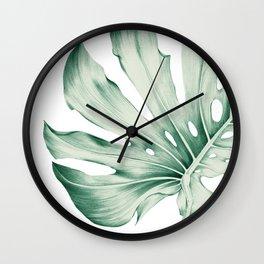 Monstera Leaf 1 Wall Clock