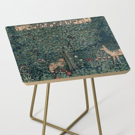 William Morris Greenery Tapestry Side Table