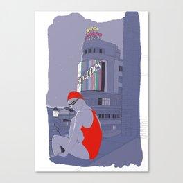 Diving in Madrid / Buceando en Madrid Canvas Print