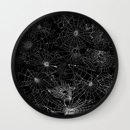 cobwebs Wall Clock
