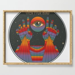 Open Your Mind - Rainbow Art - Third Eye Serving Tray