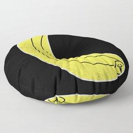 Yellow Velvet Floor Pillow