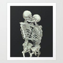 Valentine's Day Gift: Skeleton Kiss Kunstdrucke