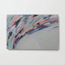 Pastel Swoops Metal Print