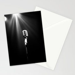 Classic Microphone Stationery Cards