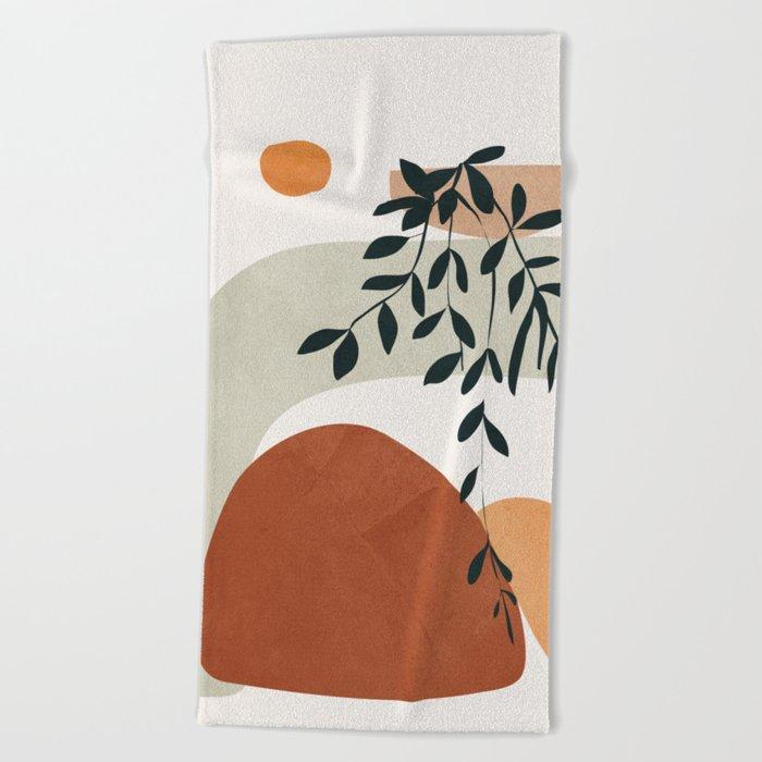 Soft Shapes I Beach Towel
