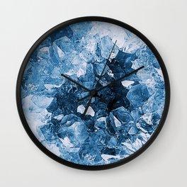 Crystal Blue Abstract Wall Clock