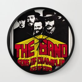 1969 The Band at Winterland Ballroom Concert Poster Wall Clock