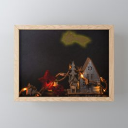 Concept Christmas : The barn Framed Mini Art Print