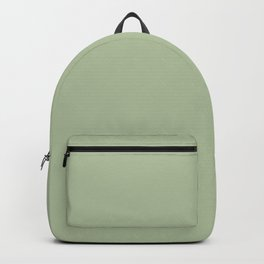 CELADON GREEN solid color Backpack