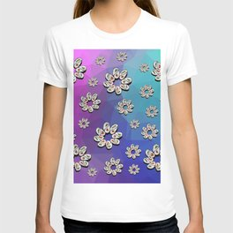 Cosmic Field of Sushi Flowers T-shirt