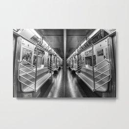 NYC subway N train Metal Print
