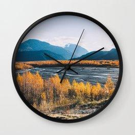 Alaskan Autumn - Kenai Fjords National Park Wall Clock
