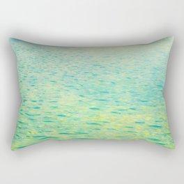 "Gustav Klimt ""Island in the Attersee"" 1902 Rectangular Pillow"