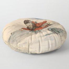 The Samurai of Free Skiing - Mike Douglas Floor Pillow
