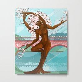Vrksasana Blossom Metal Print