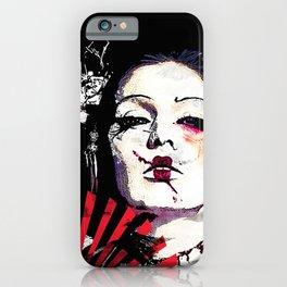 Japanese Creepy Geisha iPhone Case