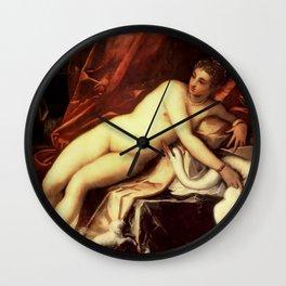 "Tintoretto (Jacopo Robusti) ""Leda and the swan"" Wall Clock"