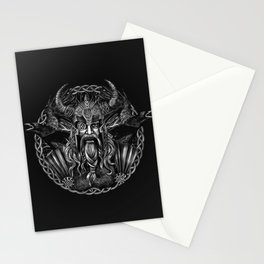 Odin and his ravens Huginn and Muninn Stationery Cards