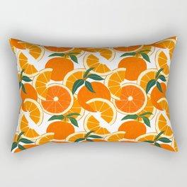 Orange Harvest - White Rechteckiges Kissen